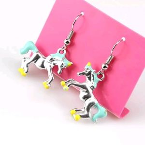 Betsey Johnson Unicorn Drop Earrings